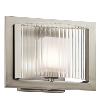 Kichler 45441NI Rigate Collection Wall Sconce 1 Light Halogen in Brushed Nickel