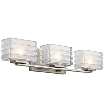 Kichler 45479NI Bazley Collection Bath 3 Light in Brushed Nickel