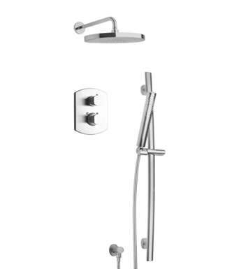 LaToscana NO-OPTION2PW Novello Shower System 2 With Finish: Brushed Nickel