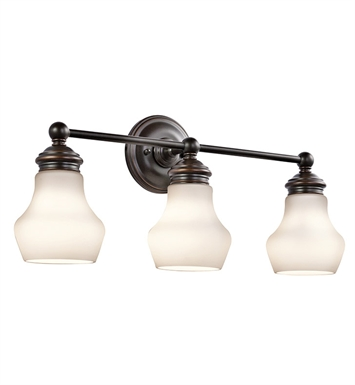 Kichler 45488ORZ Currituck Collection Bath 3 Light in Oil Rubbed Bronze
