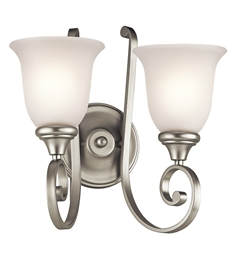 Kichler Monroe Collection Wall Bracket 2 Light in Brushed Nickel