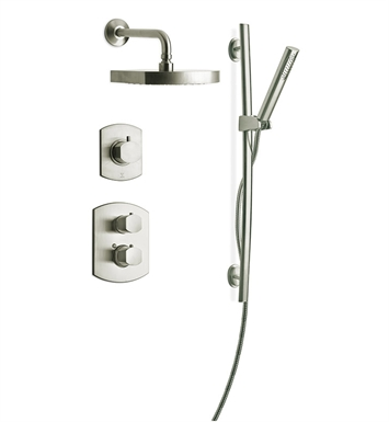 LaToscana NO-OPTION3PW Novello Shower System 3 With Finish: Brushed Nickel