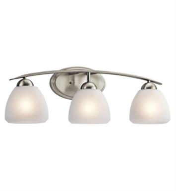 "Kichler 45119NI Calleigh 3 Light 26"" Incandescent Wall Mount Bath Light in Brushed Nickel"