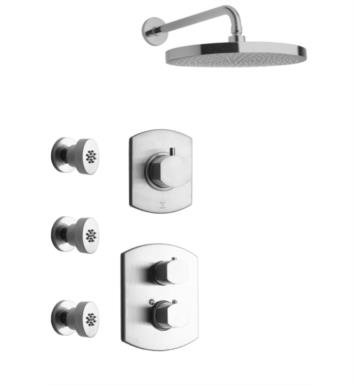 LaToscana NO-OPTION4 Novello Thermostatic Shower System with Three Way Diverter and Three Body Jets