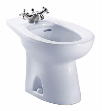 "TOTO BT500AR#11 Piedmont 24 7/8"" Elongated Bidet for One-Hole Deck Mounted Faucet With Finish: Colonial White"