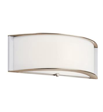 Kichler 10630PN Arcola 1 Light Compact Fluorescent Wall Sconce in Polished Nickel