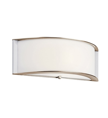 Kichler 10630PN Arcola Collection Wall Sconce 1 Light Fluorescent in Polished Nickel