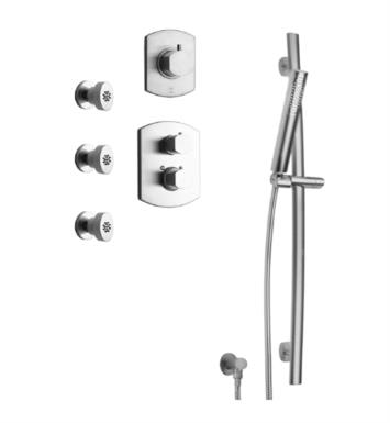 LaToscana NO-OPTION5 Novello Thermostatic Shower System with Slide Bar Kit and Three Body Jets