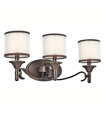 Kichler 45283MIZ Lacey Collection Bath 3 Light in Mission Bronze