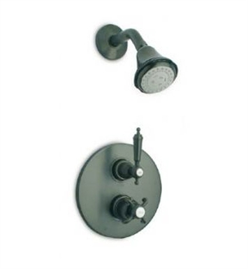 LaToscana OR-OPTION2PW Ornellaia Thermostatic Shower Set in Brushed Nickel