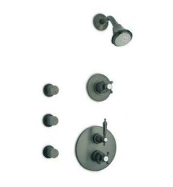 LaToscana OR-OPTION4PW Ornellaia Thermostatic Shower Set in Brushed Nickel