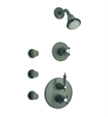 LaToscana OR-OPTION4 Ornellaia Thermostatic Shower System with Three Way Diverter and Three Body Jets