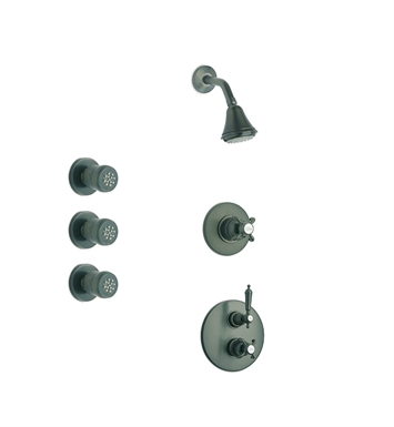 LaToscana OR-OPTION4PW Ornellaia Shower System 4 With Finish: Brushed Nickel