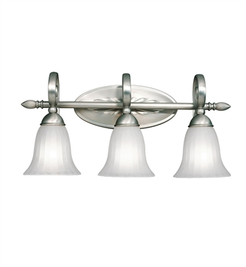 Kichler 5928NI Willowmore Collection Bath 3 Light in Brushed Nickel