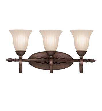 Kichler 5928TZ Willowmore Collection Bath 3 Light in Tannery Bronze