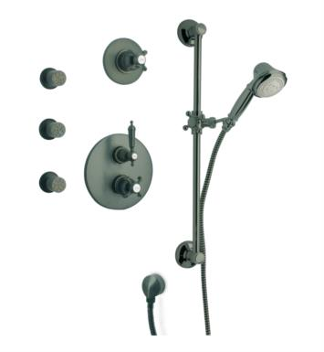 LaToscana OR-OPTION5 Ornellaia Thermostatic Shower System with Slide Bar Kit and Three Body Jets