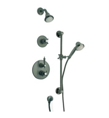 LaToscana OR-OPTION3 Ornellaia Thermostatic Shower System with Three Way Diverter and Slide Bar Kit