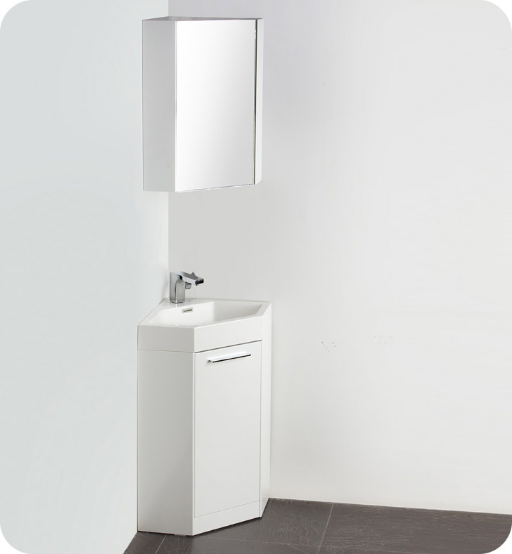 coda modern corner bathroom vanity white 24 x 18 with top inch depth vessel cabinet