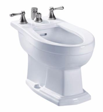 "TOTO BT784B#11 Clayton 25 1/2"" Elongated Bidet with Vertical Spray for Deck Mounted Faucet With Finish: Colonial White"