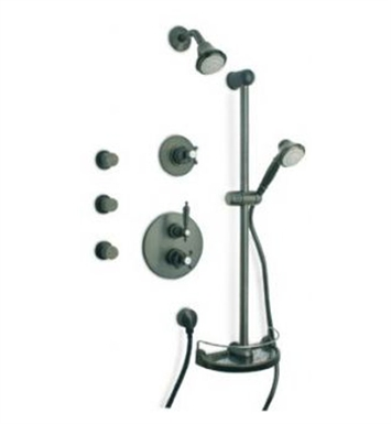 LaToscana OR-OPTION7PW Ornellaia Thermostatic Shower System in Brushed Nickel