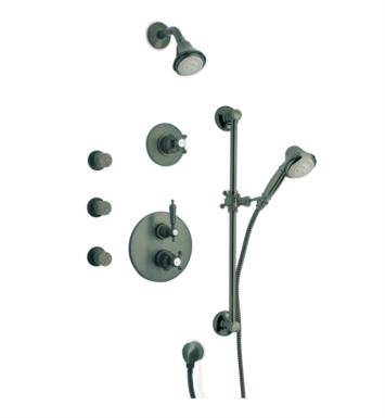 LaToscana OR-OPTION7 Ornellaia Thermostatic Shower System with Slide Bar Kit and Three Body Jets