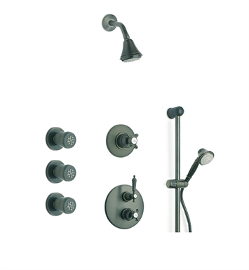 LaToscana OR-OPTION7PW Ornellaia Shower System 7 With Finish: Brushed Nickel