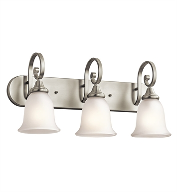 Kichler 45055NI Monroe Collection Bath 3 Light in Brushed Nickel