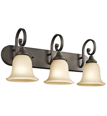 Kichler 45055OZ Monroe Collection Bath 3 Light in Olde Bronze