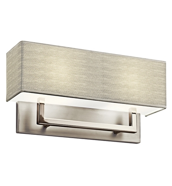 Kichler 10696SN Wall Sconce 2 Light Fluorescent in Satin Nickel
