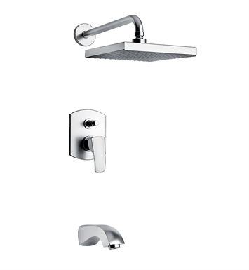 LaToscana 89CR797 Lady Pressure Balance Tub and Shower Set in Chrome