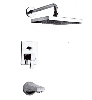 LaToscana 89PW797 Lady Pressure Balance Tub and Shower Set in Brushed Nickel