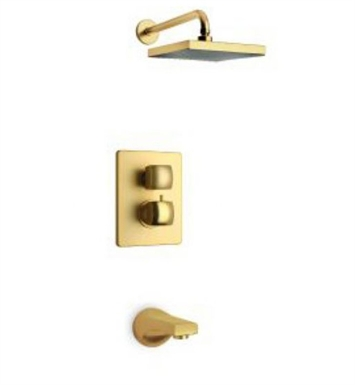 LaToscana 89PW691 Lady Thermostatic Valve with 2-Way Diverter Volume Control in Brushed Nickel