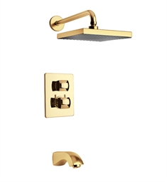 LaToscana 89OK691KIT Lady Thermostatic Tub and Shower Set in Gold