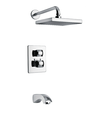 LaToscana 89CR691KIT Lady Thermostatic Tub and Shower Set in Chrome