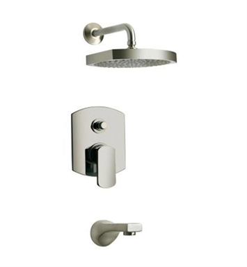 LaToscana 86PW797 Novello Pressure Balance Tub and Shower Set in Nickel