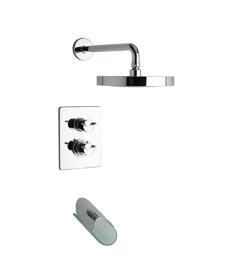 LaToscana 73CR691VR Morgana Thermostatic Tub and Shower Set in Chrome