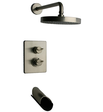 LaToscana 73PW691LZ Morgana Thermostatic Tub and Shower Set in Nickel