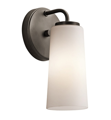 Kichler Whitley Collection Wall Sconce 1 Light in Olde Bronze
