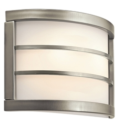 Kichler Wall Sconce 2 Light Fluorescent in Brushed Nickel