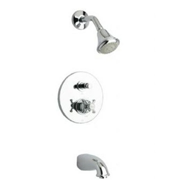 LaToscana 87PW797 Ornellaia Pressure Balance Tub and Shower Set in Nickel