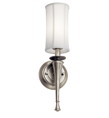 Kichler Wall Sconce 1 Light Fluorescent in Antique Pewter