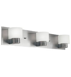 Kichler Adao Collection Bath 3 Light Fluorescent in Brushed Nickel