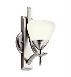 Kichler Olympia Collection Wall Sconce 1 Light Fluorescent in Antique Pewter