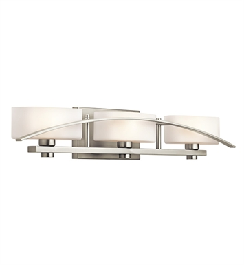 Kichler 45317NI Suspension Collection Bath 3 Light in Brushed Nickel