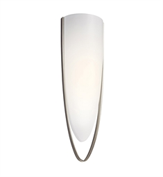 Kichler Eucia Collection Wall Sconce 1 Light Fluorescent in Brushed Nickel