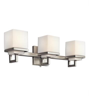 "Kichler 45139NI Metro Park 3 Light 21 3/4"" Incandescent Wall Mount Bath Light in Brushed Nickel"