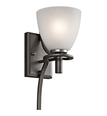 Kichler Neillo Collection Wall Sconce 1 Light in Anvil Iron