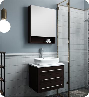 modella 23 espresso modern bathroom vanity with medicine cabinet
