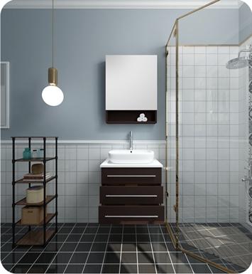 fresca fvn6185es modella 23 espresso modern bathroom