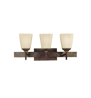 Kichler 5316MBZ Souldern Collection Bath 3 Light in Marbled Bronze